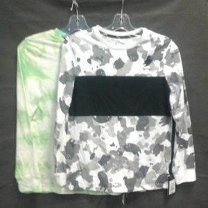 Boys Graphic T-Shirt Lot of 2 Size L Green/Black